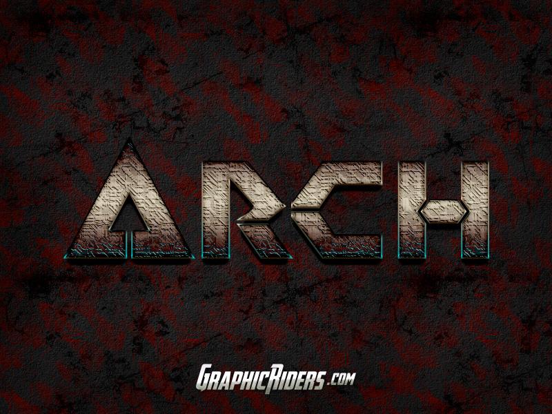 Scifi style arch