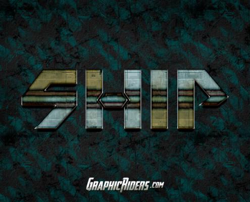 scifi style ship