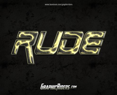 scifi style rude