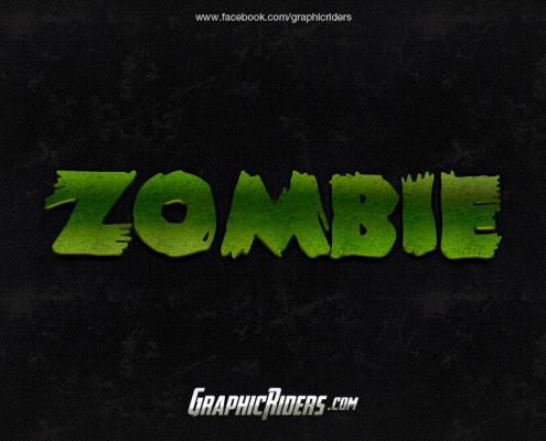 horror style zombie