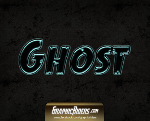 text style ghost