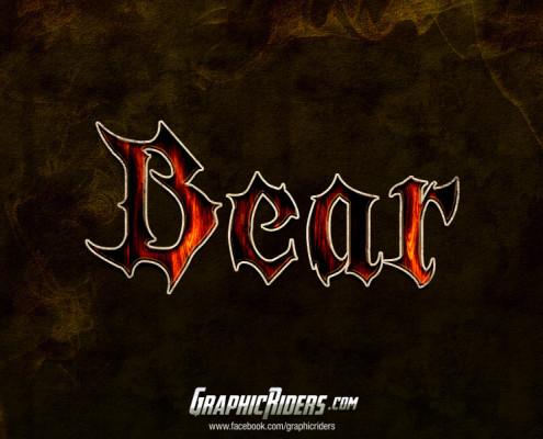 free fantasy text style bear