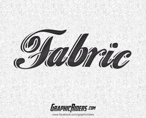 free retro text style fabric