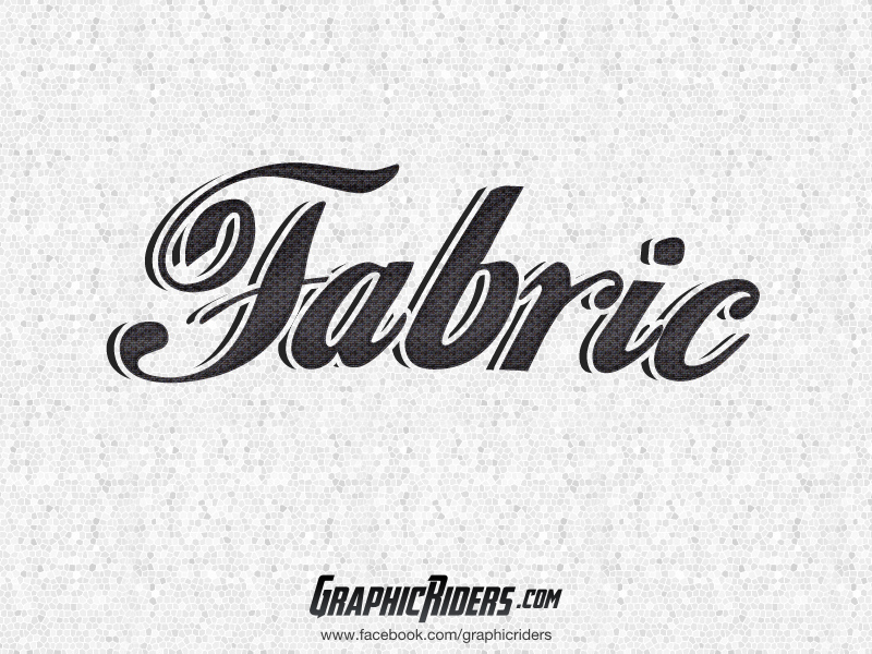 free retro text style fabric
