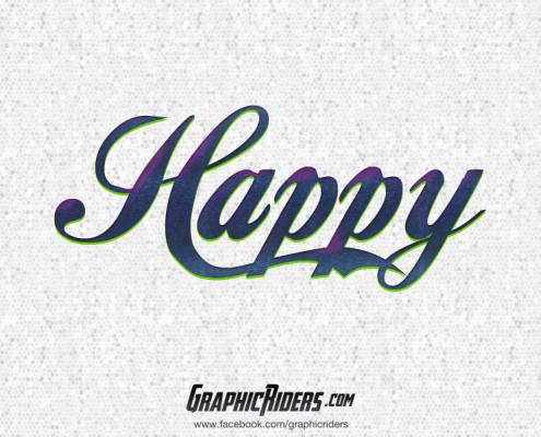 free retro style happy