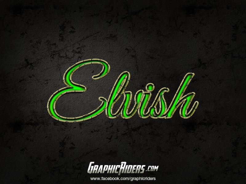 free fantasy style elvish